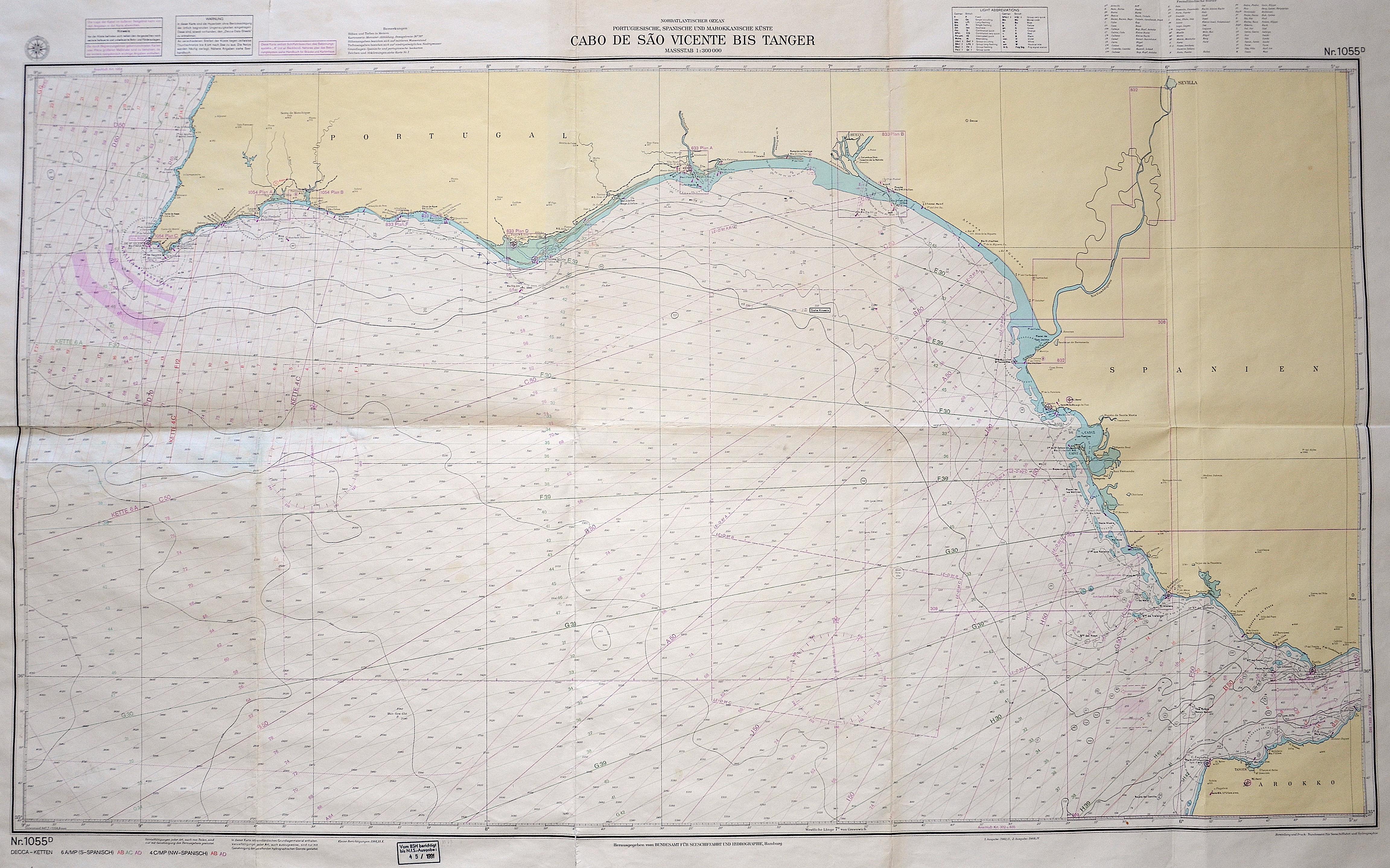 Bundesamt für Seeschiffahrt und Hydrographie  Cabo de Sao Vincente bis Tanger