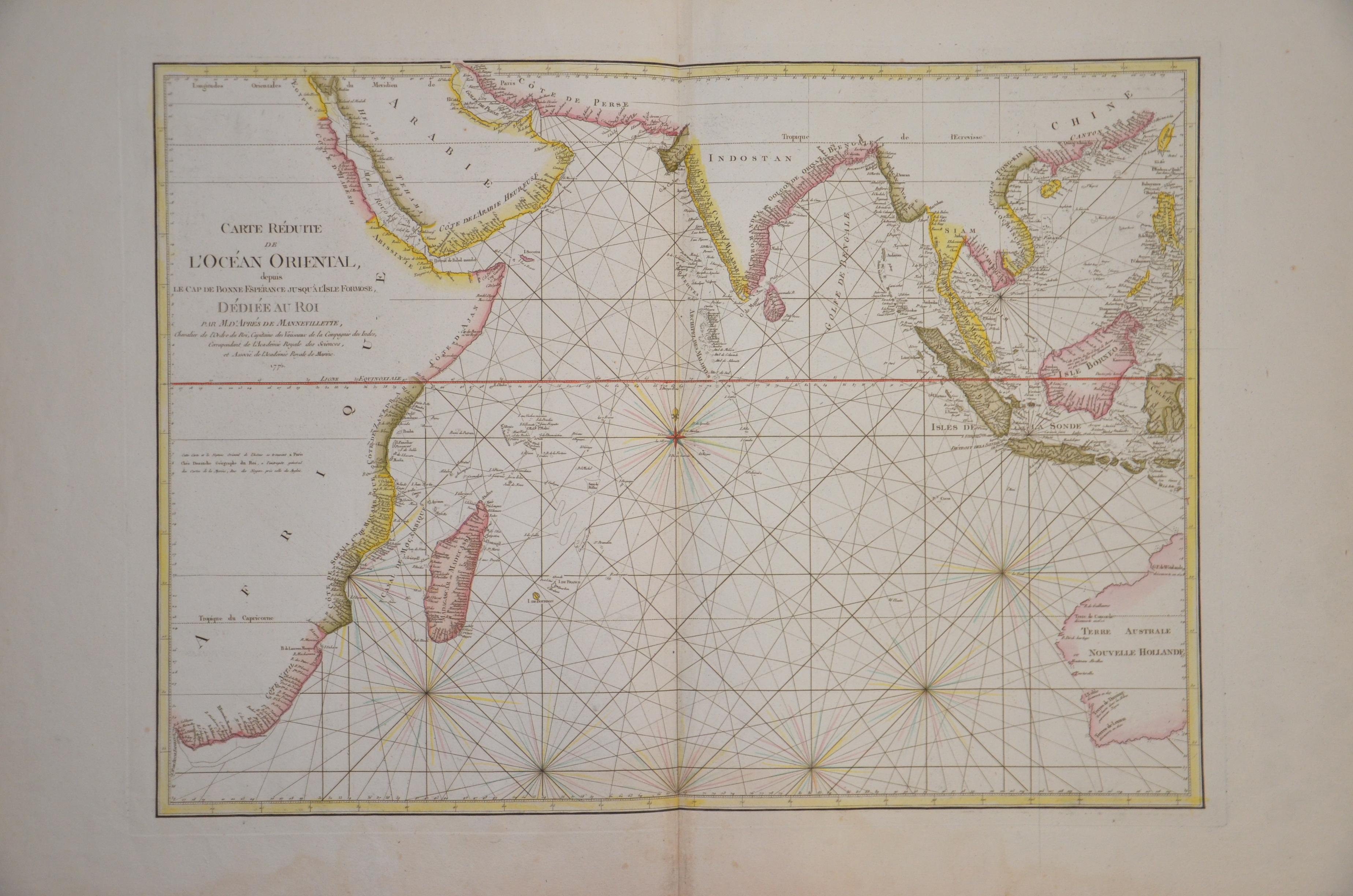 Dezauche J.A. Carte réduite de l'Océan Oriental…