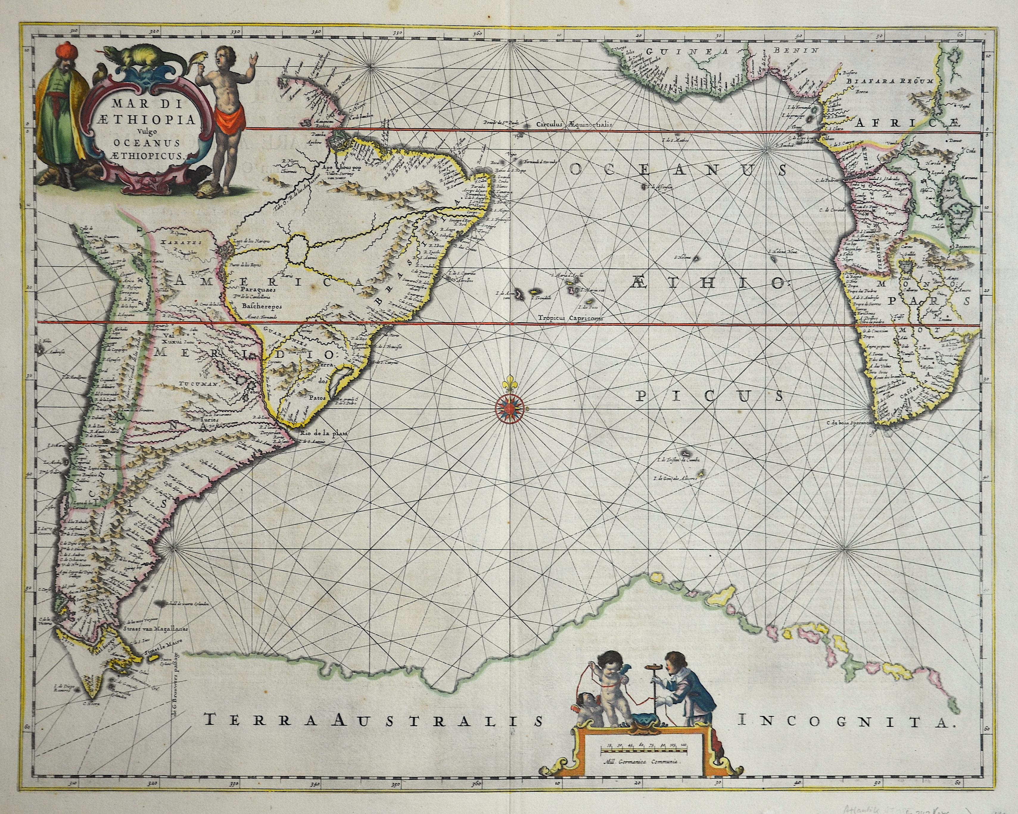 Janssonius Johann Mare di Aethipia vulgo Oceanus Aethiopicus