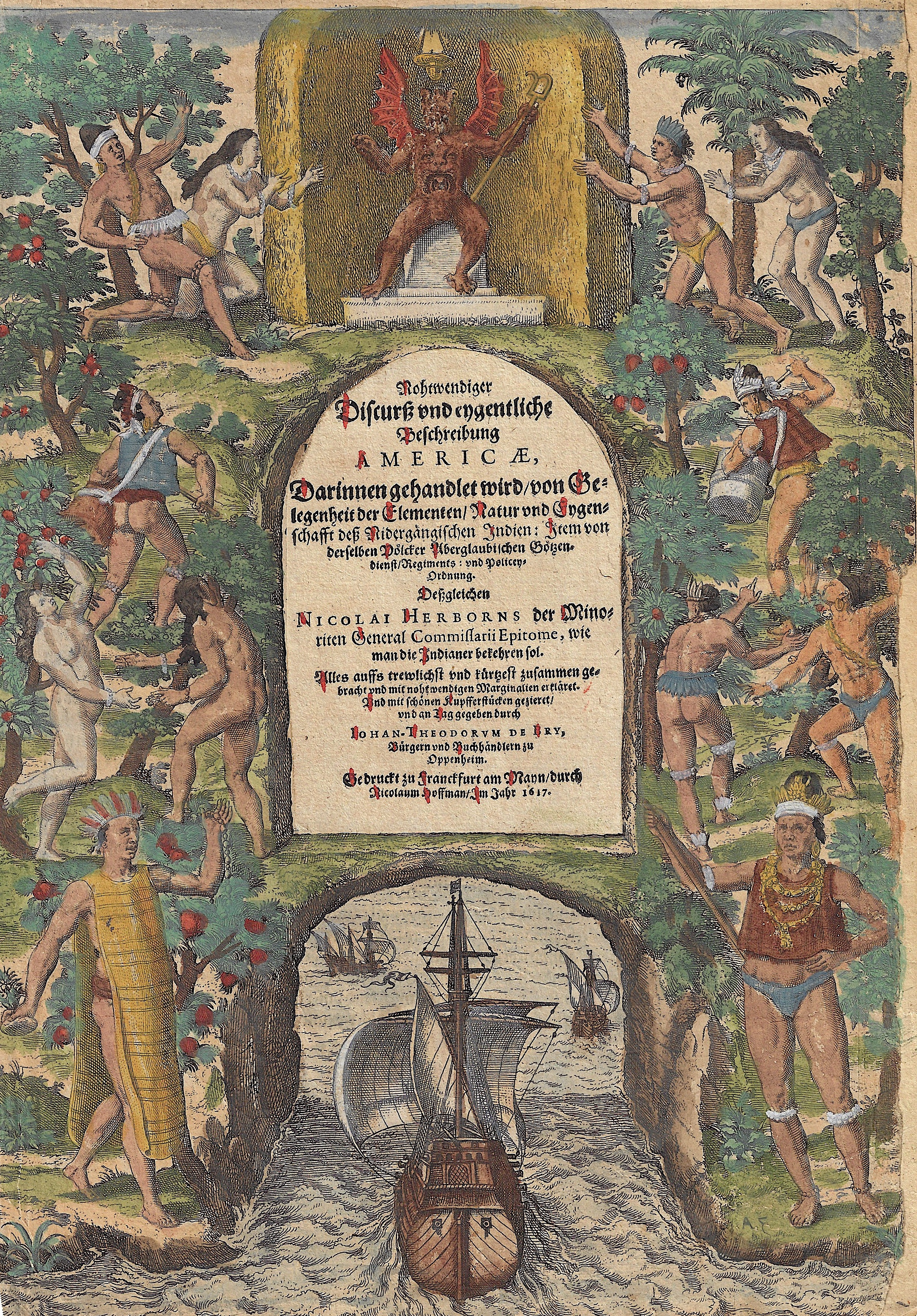 """Bry, de Theodor, Dietrich America Part IV """"Das vierdte Buch von der neuwen Welt…"""""""