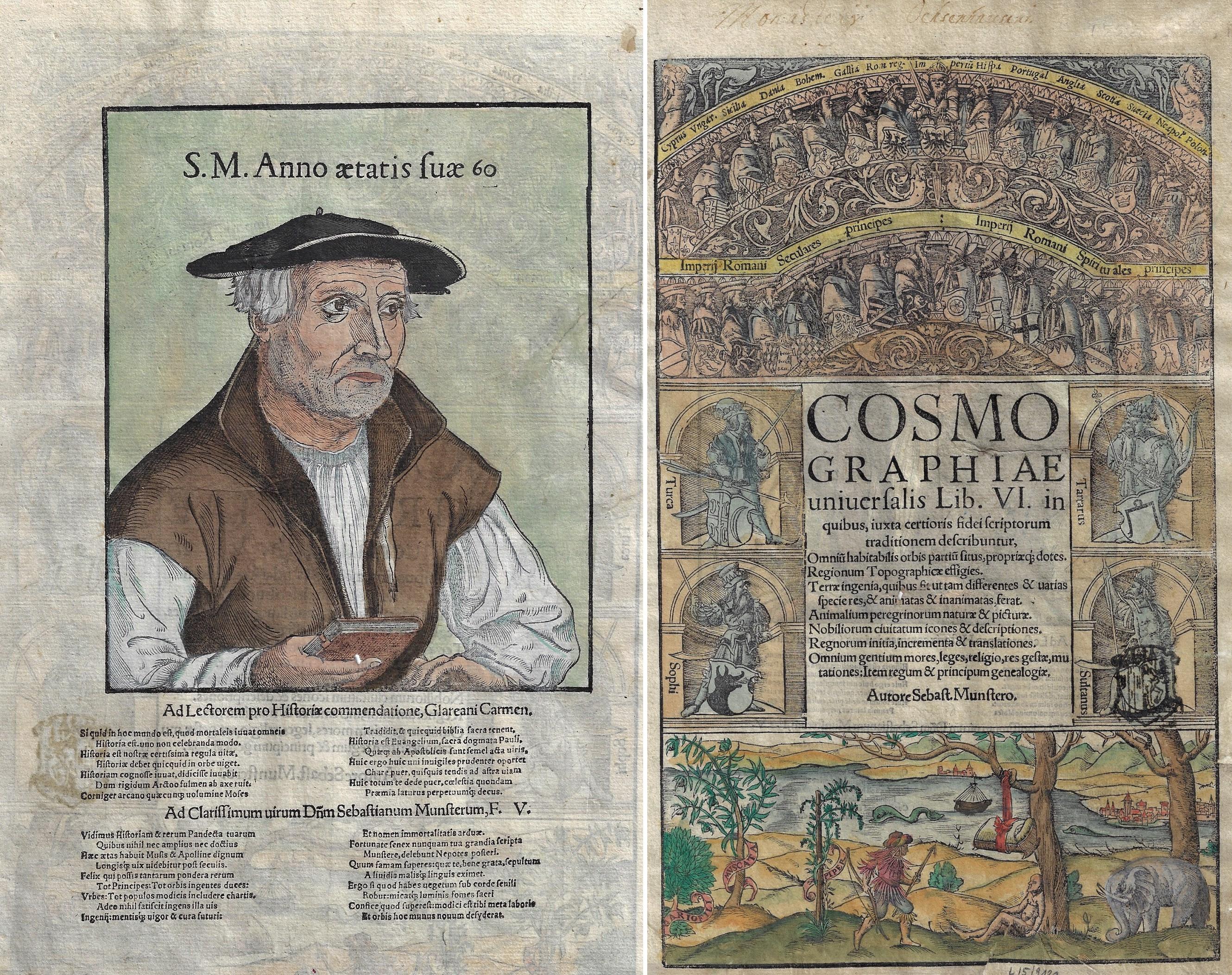 Münster Sebastian Cosmographiae universalis Lib. VI. in quibus, iucta certioris fidei scriptorum traditionem describuntur,.. Autore Sebast. Mustero.