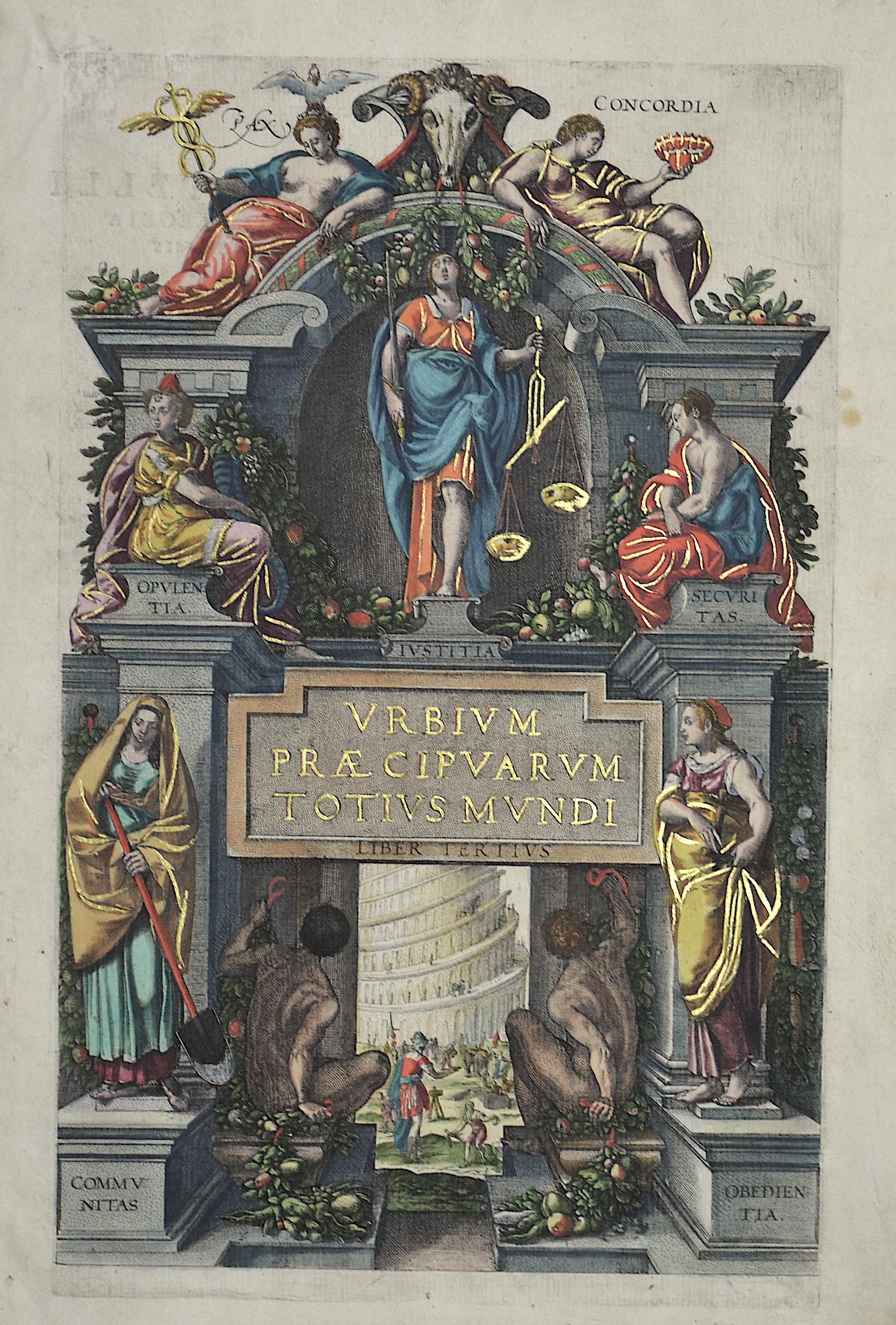 Braun/Hogenberg  Urbium Praecipuarum totius mundi. Liber tertius