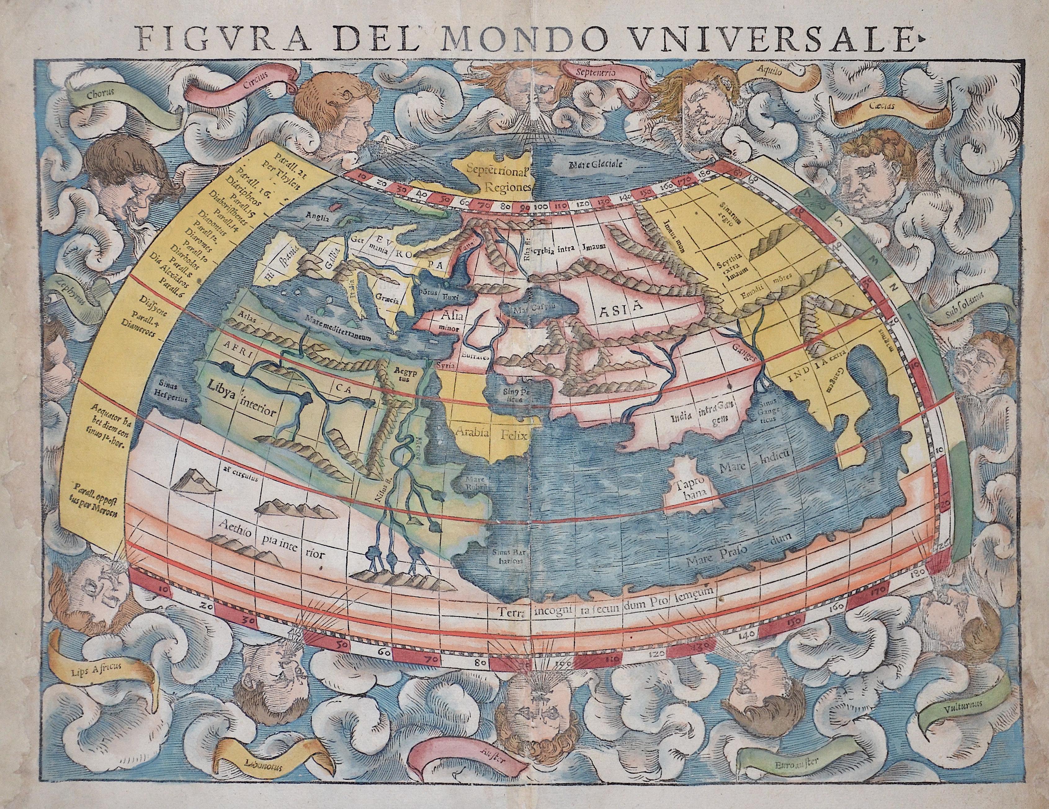 Münster Sebastian La seconde Table Generalem Selon Ptol.