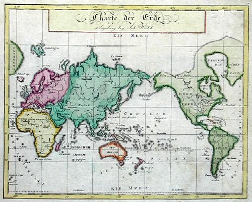Walch Johann Charte der Erde