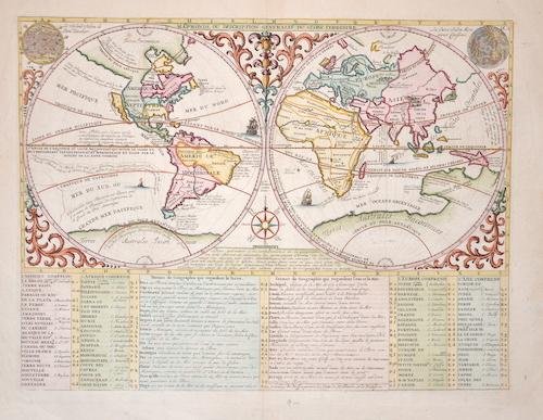 Cassini Giovanni Maria Mappe Monde ou description generale du Globe Terrestre
