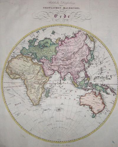 Walch Johann Bildliche Darstellung der oestlichen Halbkugel der Erde