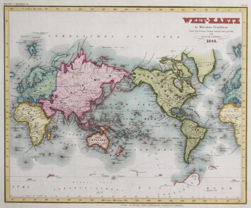 Radefeld  Welt- Karte in Mercators Projektion
