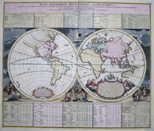 Homann / Doppelmayer, J.G.  Basis Georaphiae recentioris Astronomica in qua fitus locorum infigniorum geographici ea exactitudine, qua celeberrini Astronomi eosdem per observ….