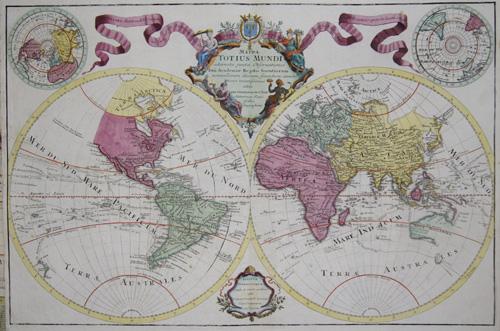 Lotter/ de l´Isle T.C. Mappa Totius Mundi adornata juxta Observationes Dnn Academiae Regalis Scintiarum……