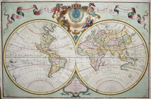 L´Isle, de /Covens & Mortier  Mappe monde a l´ usage du Roy. Par Guillaume Delisle Premier Geographe de S.M.