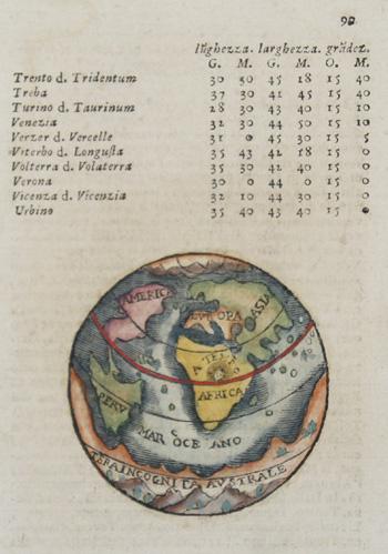Anonymus  Della sessta tavola d´Europa con nomi Antichi, e Moderni