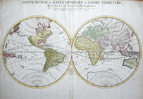 Mariette  Mappe- Monde ou Carte generale du Globe Terrestre…