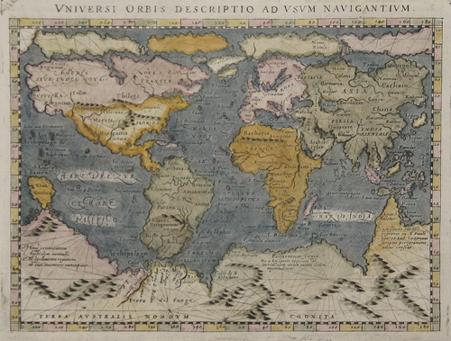 Lasor a Varea Alphonse Universi Orbis descriptio at usum Navigantium