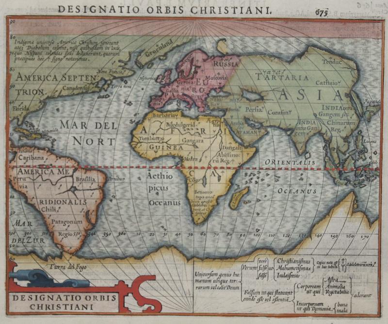 Hondius Hendrik Designatio Orbis Christiani