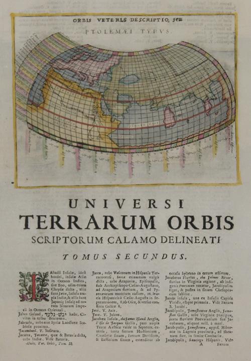 Lasor a Varea Alphonse Orbis Veteris descriptio, seu Ptolemaei Typus.
