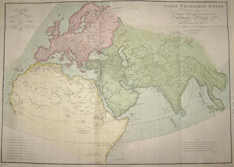 Anville´d  Orbis Veteribus Notus / The World Known to the Antients Auspiciis Serenissimi Principis Ludovici Philippi …