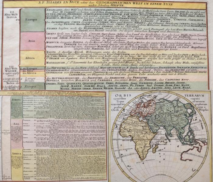 Weigel Christoph Orbis Terrarum veteribus cogniti Typus ad mentem veterum Geographorum praesentatur á Christ. Weigelio.