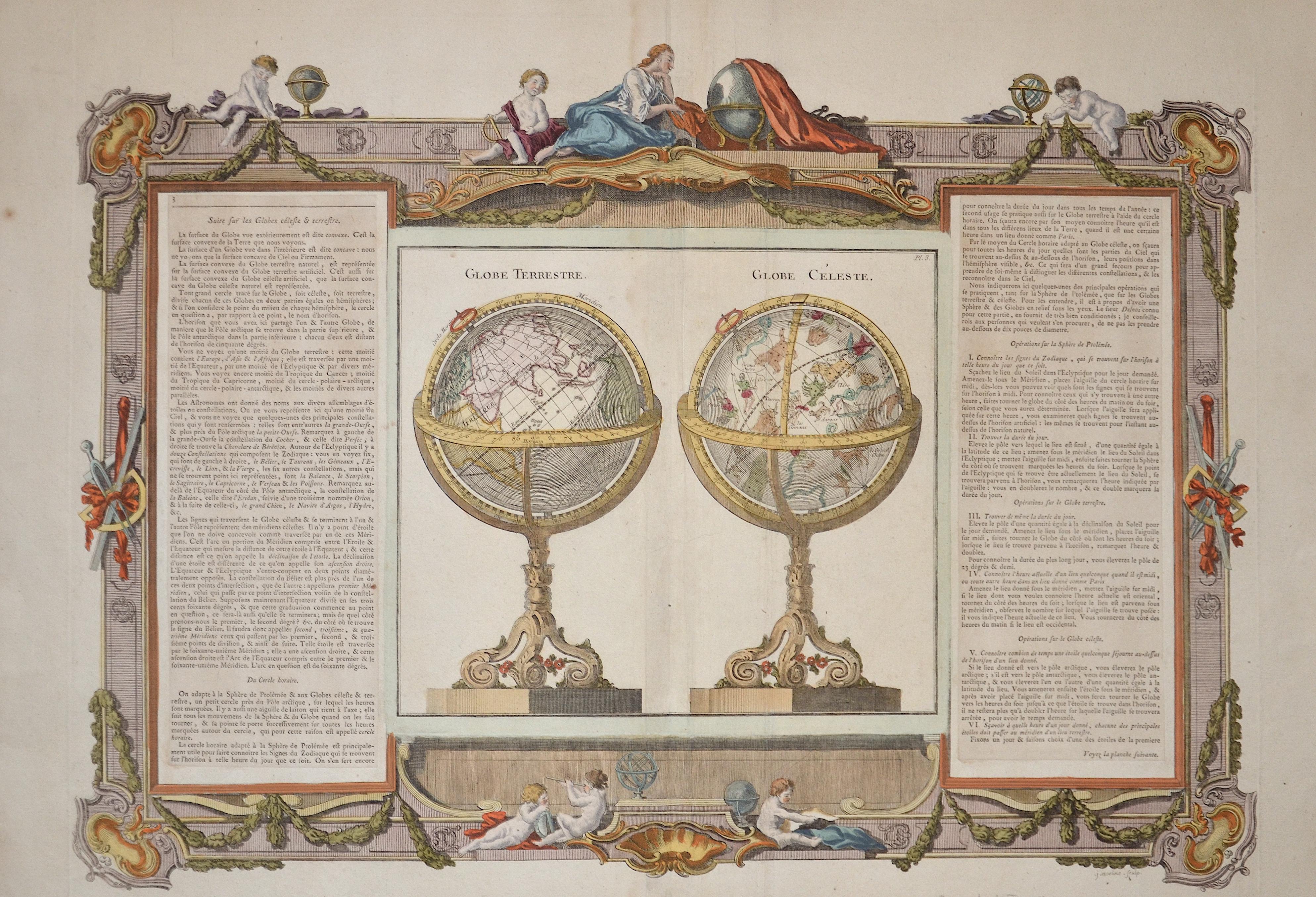Brion de la Tour Louis Globe Terrestre. Globe Céleste.