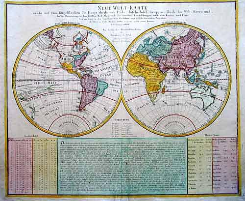 Homann Erben  Neue Welt-Karte