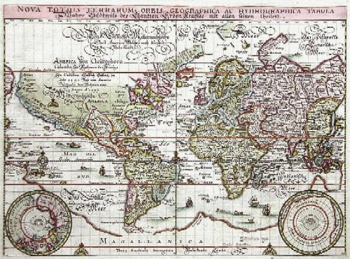 Merian Matthäus Nova totius Terrarum Orbis Geogrphica ac Hydrographica Tabula