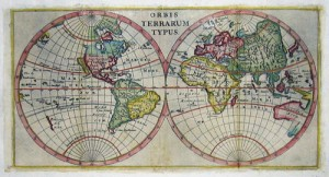 Orbis Terrarum Typus (1700) shows the total world with California as island